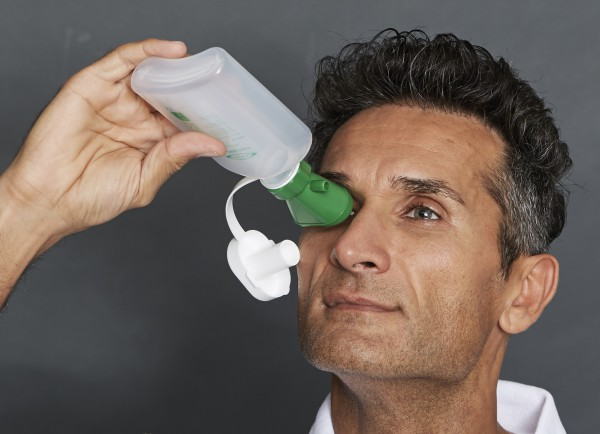 Augenspülflasche MINI mit Trichter, EY